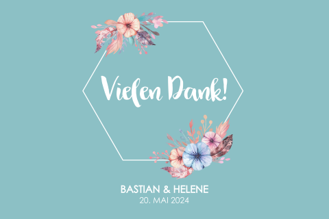 SAVE THE DATE BOHO BLUMEN BLAU