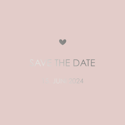 SAVE THE DATE MODERN SCHICK ROSA